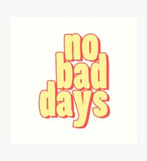 Lámina artística No Bad Days Cartoon - Cool Good Days Sticker T-Shirt Pillow