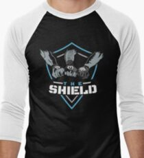 The Shield Blue-White [Available in 10 colors] Men's Baseball ¾ T-Shirt