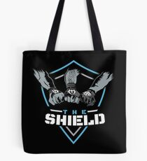 The Shield Blue-White [Available in 10 colors] Tote Bag