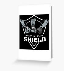 The Shield White-White [Available in 10 colors] Greeting Card