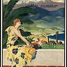 California Vintage Travel Advertisement Art Poster by jnniepce