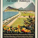 Ireland Vintage Travel Advertisement Art Poster by jnniepce