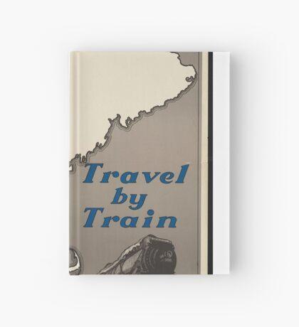 Boston Vintage Travel Advertisement Art Poster Hardcover Journal