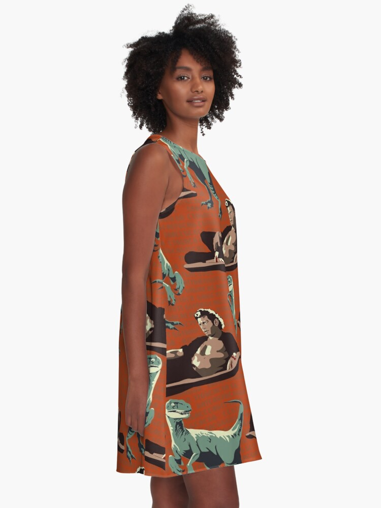 Alternate view of Jurassic Geniuses  A-Line Dress
