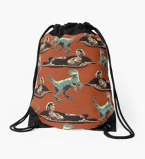 Jurassic Geniuses  Drawstring Bag