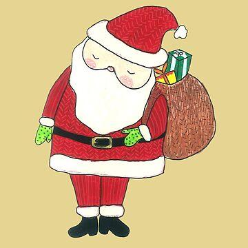 Cute Sleepy Santa Claus by DoodlesAndStuff