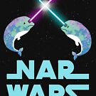 Nar Wars, Narwhal Space Star Fighting Saber Light Parody (Unicorn of the Sea) by DesIndie