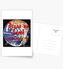 Pizza auf der Erde Postkarten