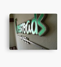 crossroads motel Canvas Print