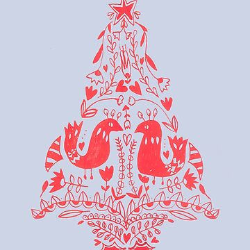 Ornamental Christmas Tree by DoodlesAndStuff