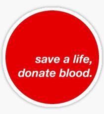 give blood Sticker