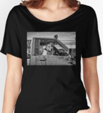 DOG BORED AT THE BIG BOX STORE Women's Relaxed Fit T-Shirt