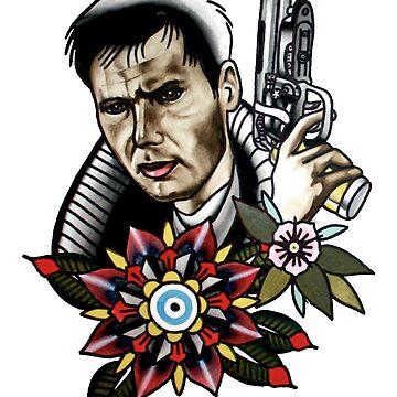 Blade Runner Tattoo Style Shirts / Leggings von comastar