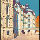 Cheverny Vintage Travel Advertisement Art Poster by jnniepce