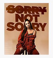 Sorry, Not Sorry - Demi Lovato Photographic Print