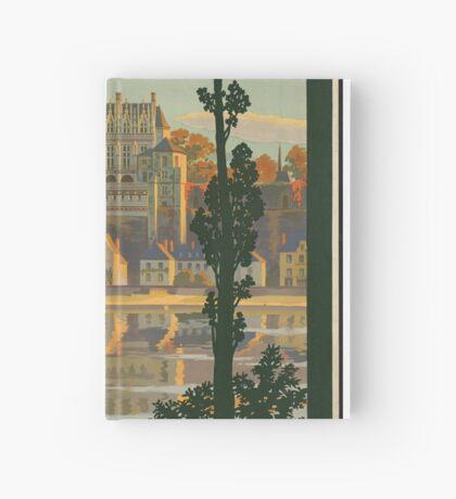France Vintage Travel Advertisement Art Poster Hardcover Journal