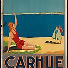 Carhue Vintage Travel Advertisement Art Poster by jnniepce