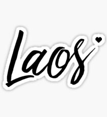 Laos In Love Sticker