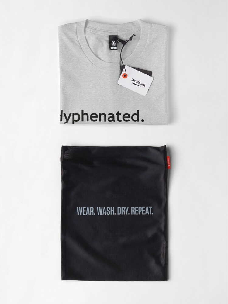 Alternate view of Hyphenated Non-hyphenated. The irony. Premium T-Shirt