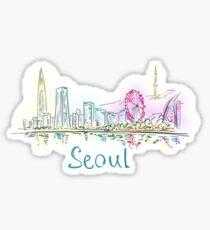 Seoul Panorama at night Sticker