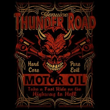 MOTORCYCLES - THUNDER ROAD by 123art