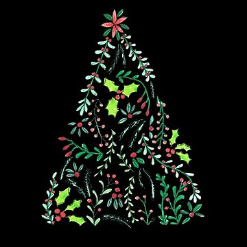 Ornamental Christmas Tree Mistletoe by DoodlesAndStuff