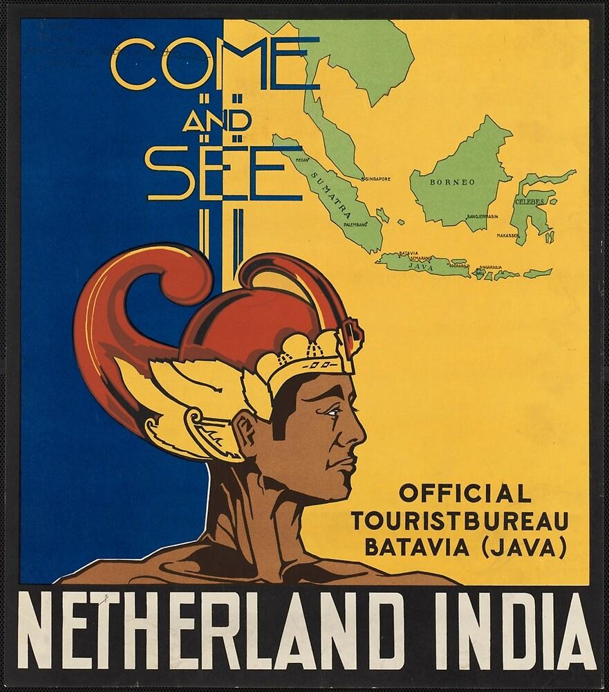 Netherland India Vintage Travel Advertisement Art Poster by jnniepce