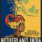 Netherland India Vintage Travel Advertisement Art Poster by jnniepce