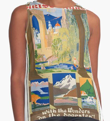 New Zealand Vintage Travel Advertisement Art Poster Sleeveless Top