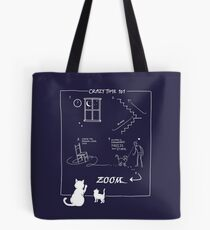 Crazy Kitty Time 101 Tote Bag