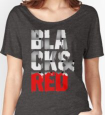 Black And Red QI490 Trending Women's Relaxed Fit T-Shirt