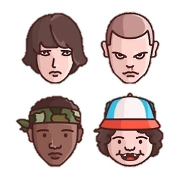Stranger Things Simple Faces by mostlytank