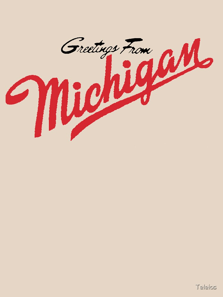 Greetings from michigan minimalist unisex t shirt by teleios greetings from michigan minimalist by teleios m4hsunfo