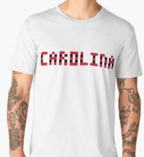 Pixel NHL Hockey State Carolina 2017 on White Men's Premium T-Shirt
