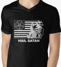 Hail Satan 666 T-Shirt Men's V-Neck T-Shirt