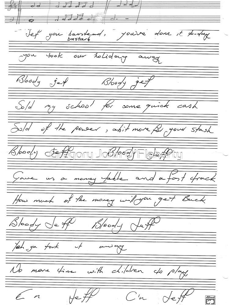 Bloody Jeff ( Ode To Jeffrey Kennet ) by Gregory John O'Flaherty