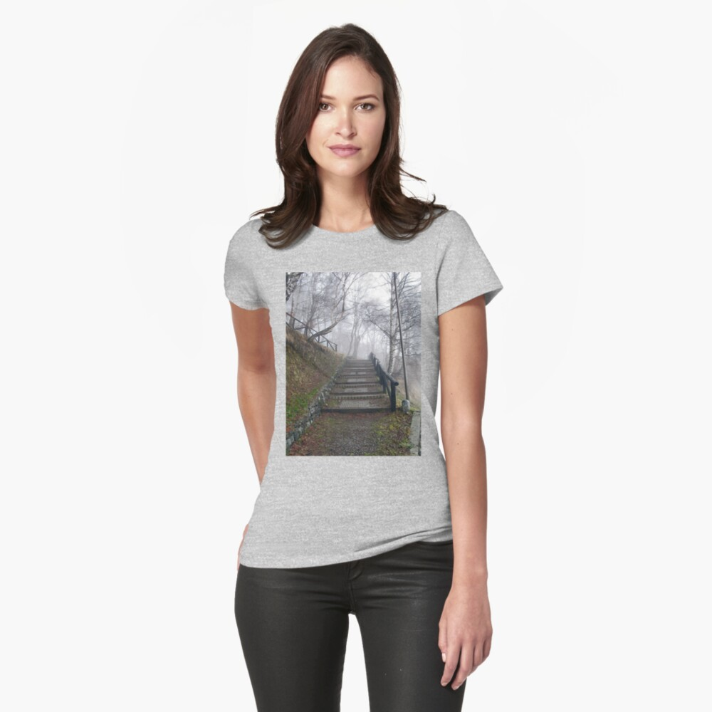 Forest stairs Womens T-Shirt Front