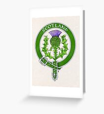 Belted Thistle Badge of Scotland Greeting Card