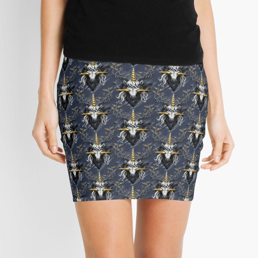 Deer Unicorn Mini Skirt