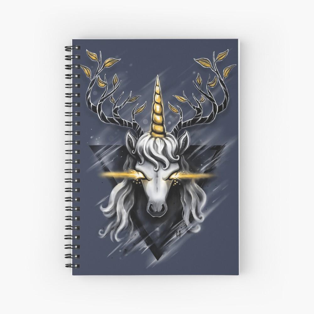 Deer Unicorn Spiral Notebook