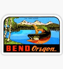 Bend Oregon vintage decal USA The Three Sisters Sticker