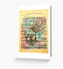Two Part Inventions  Greeting Card
