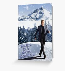 Walken In A Winter Wonderland Greeting Card