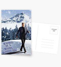 Walken In A Winter Wonderland Postcards