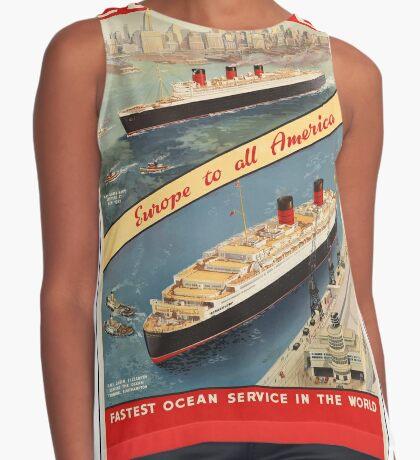 Cunard Cruise Ship Vintage Travel Advertisement Art Poster Sleeveless Top