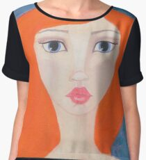 Red Haired Muse Women's Chiffon Top