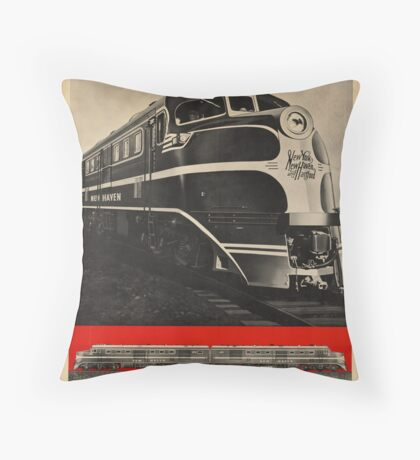 Diesel Power Train Vintage Travel Advertisement Art Poster Throw Pillow