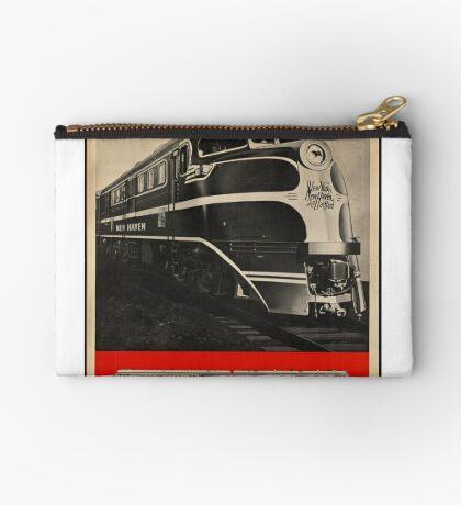 Diesel Power Train Vintage Travel Advertisement Art Poster Zipper Pouch