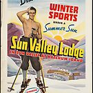 Vintage Ski Union Pacific Railroad Idaho Travel Advertisement Art Poster by jnniepce