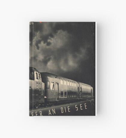 Hamburg Train Vintage Travel Advertisement Art Poster Hardcover Journal